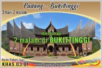 Paket tour Padang 3d2n - Bukittinggi Sumbar Travel Wisata Minangkabau Sumatera Barat 3 hari 2 malam