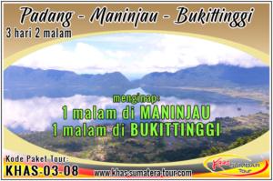 Paket tour Padang Danau Maninjau Bukittinggi Sumbar 3d2n - Travel Wisata Minangkabau Sumatera Barat 3 hari 2 malam