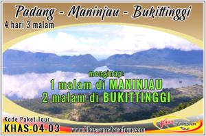 Paket tour Padang Danau Maninjau Bukittinggi Sumbar 4d3n - Travel Wisata Minangkabau Sumatera Barat 4 hari 3 malam