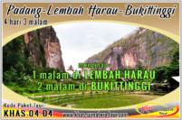 Paket tour Padang Lembah Harau Sumbar 4d3n - Bukittinggi Wisata Minangkabau Sumatera Barat 4 hari 3 malam