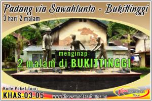 Paket tour Padang Sawahlunto Sumbar 3d2n - Bukittinggi Travel Wisata Minangkabau Sumatera Barat 3 hari 2 malam