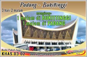 Paket wisata Padang 3d2n - Bukittinggi Sumbar 3 hari 2 malam