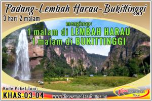 Paket wisata Padang Lembah Harau Sumbar 3d2n - Bukittinggi Tour Travel Minangkabau Sumatera Barat 3 hari 2 malam