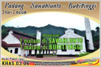 Paket wisata Padang Sawahlunto Sumbar 3d2n - Bukittinggi Tour Travel Minangkabau Sumatera Barat 3 hari 2 malam